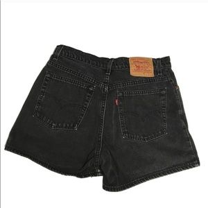 Levi's black Jean shorts made in USA